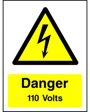Warning: Danger 110 Volts