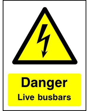 Warning:  Danger Live Busbars