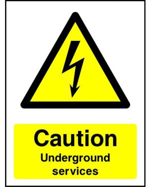 Warning: Caution Underground Services