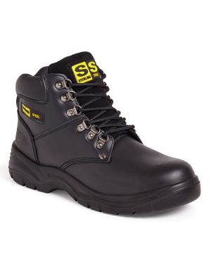 SS806SM Sterling Steel Black Leather Hiker Safety Boots