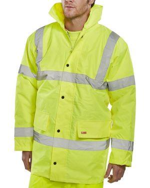 Hi Vis Parka Style Traffic Jacket