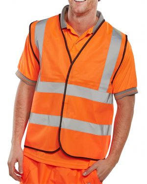 Orange dual band Hi Vis Vest