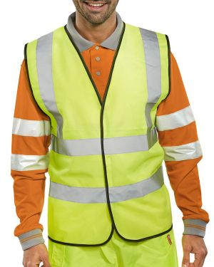 Yellow dual band Hi Vis Vest