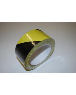 33 Metres of black & yellow self adhesive hazard tape